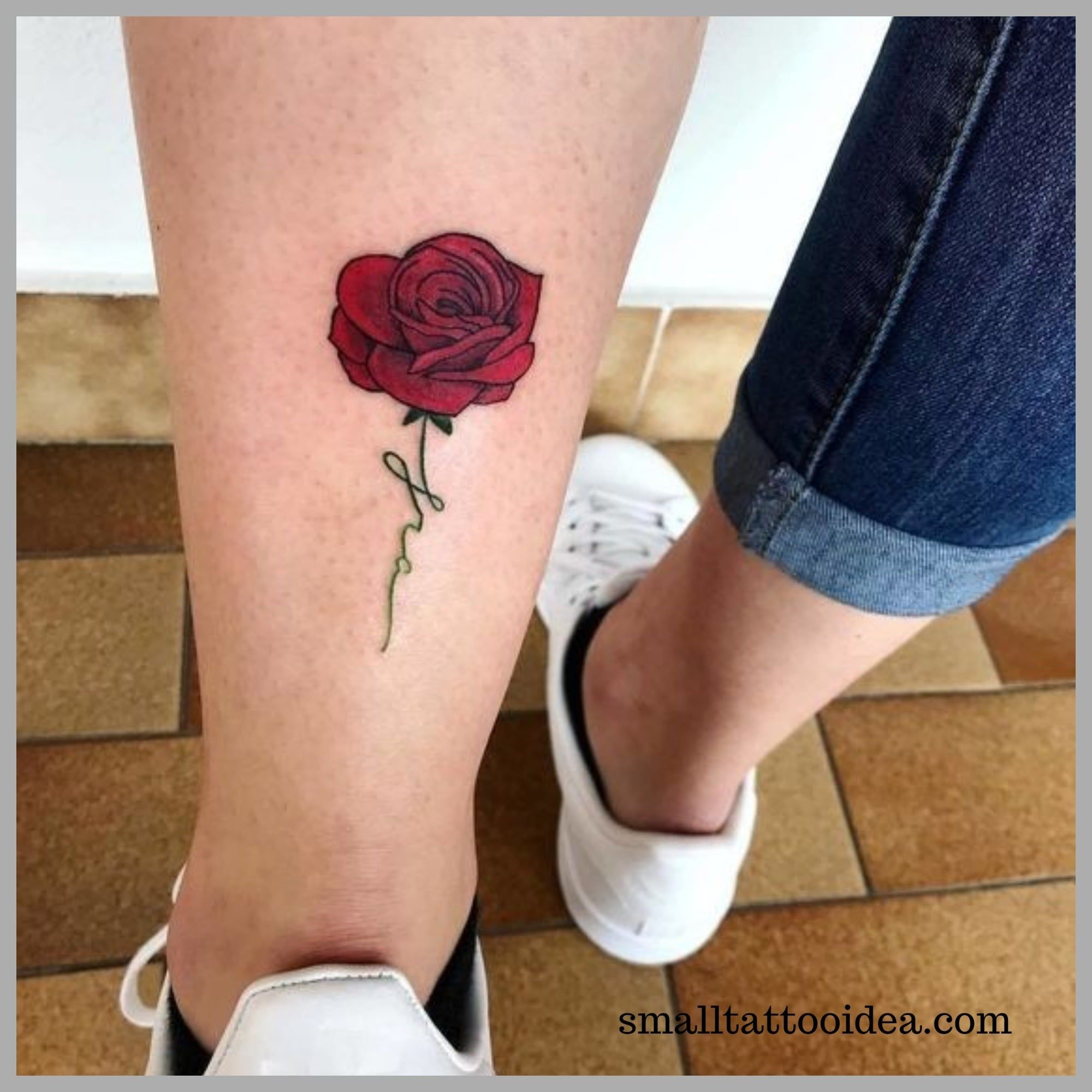 35 Small Red Rose Tattoo Ideas For Girls Tattoo Small Rose Tattoo Tattoos Rose Tattoos For Women