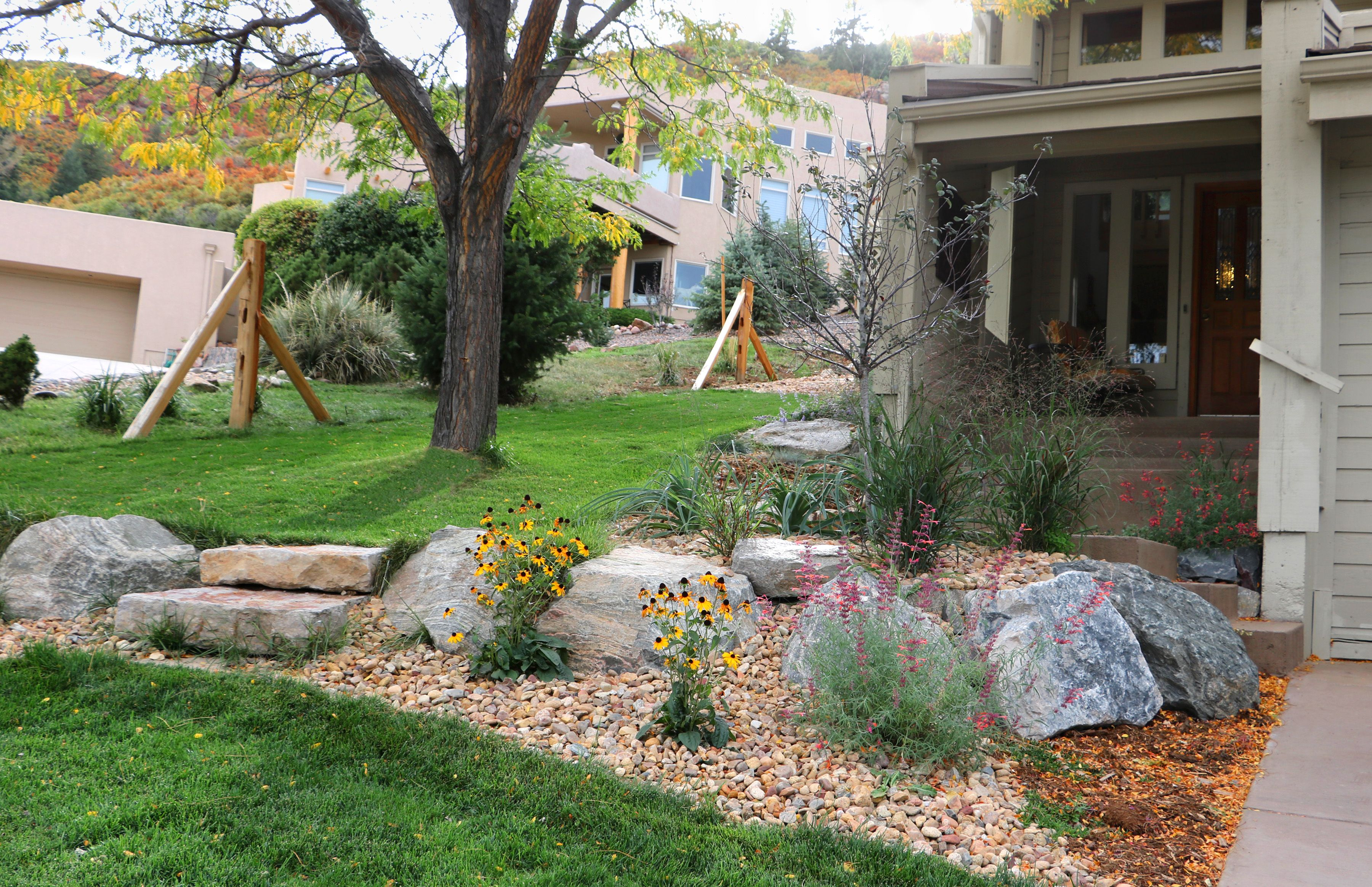 For This Residential Landscape Renovation We Replaced Outdated