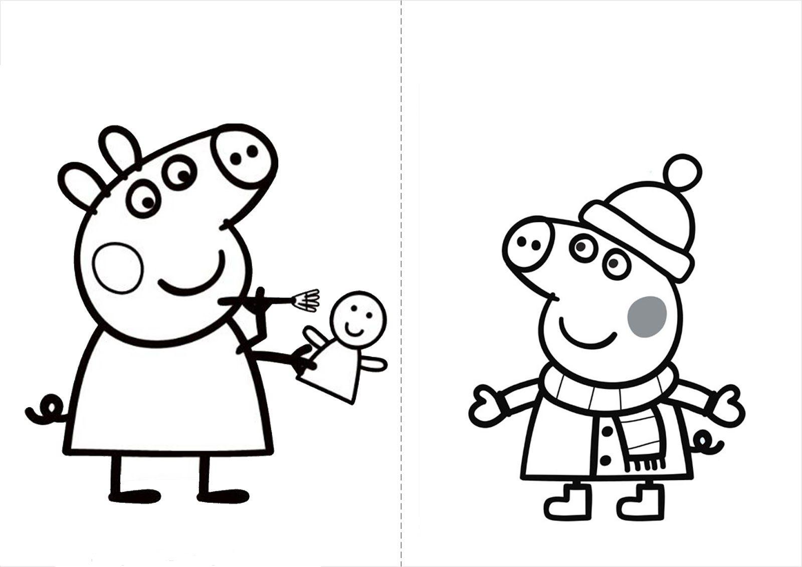 Confira os desenhos para colorir Peppa Pig