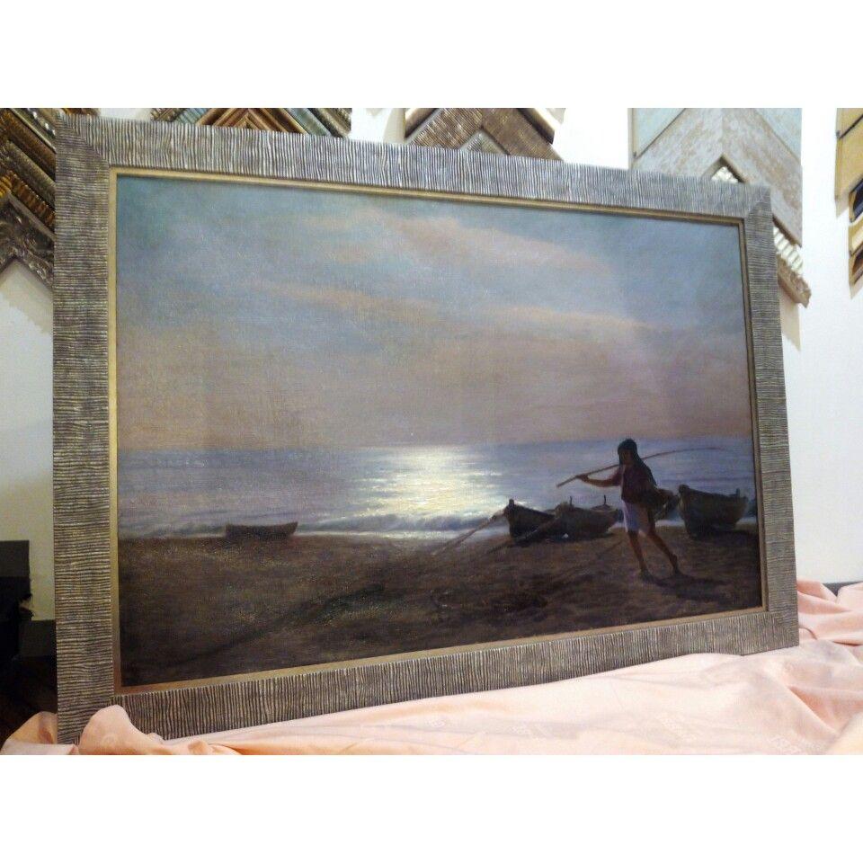Doble marco plateado para pintura al óleo. | Marcos y cuadros ...