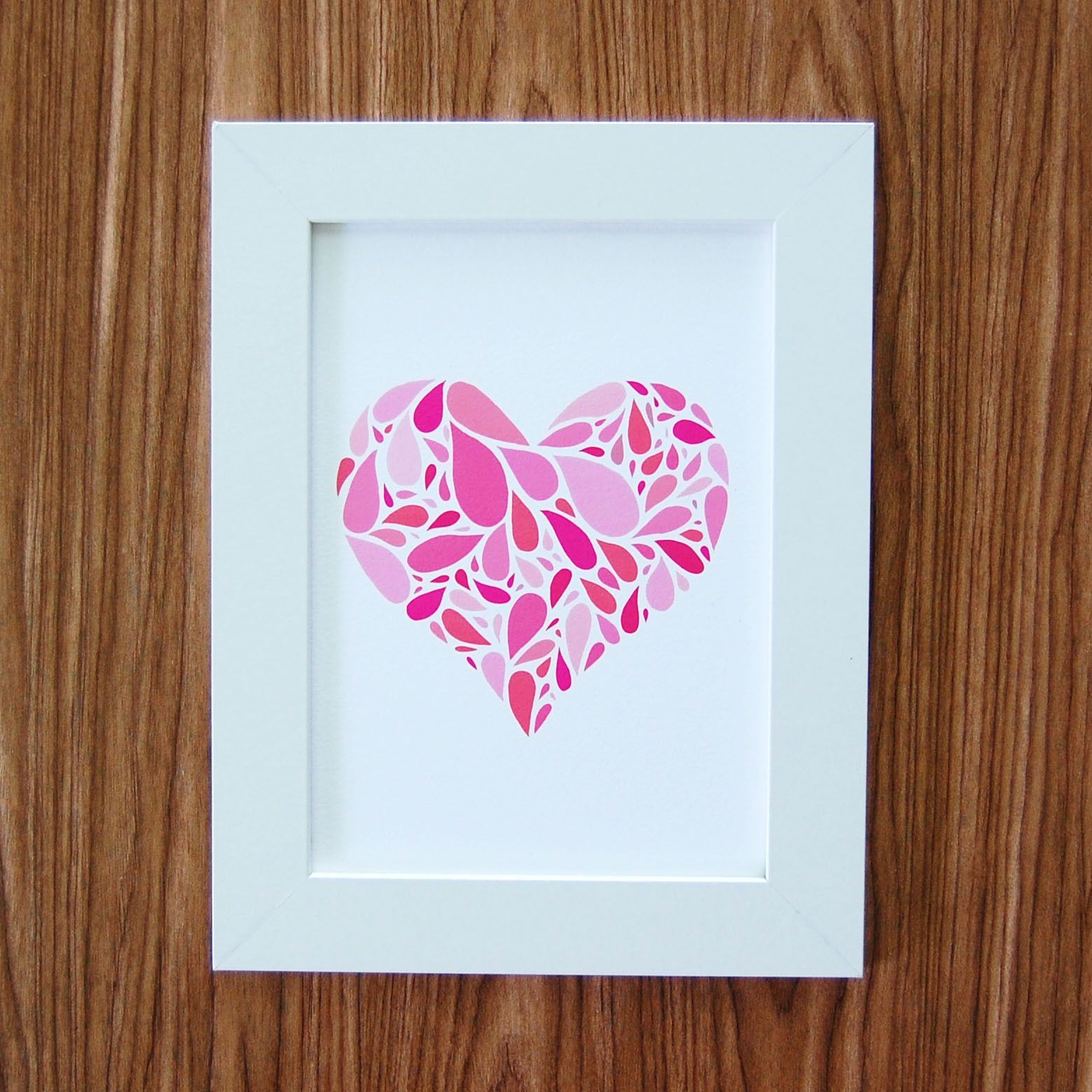 """Heart Drops Art Print, 5"""" x 7"""""""