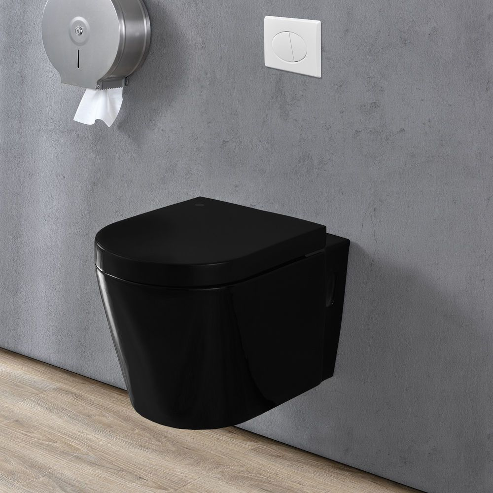 Container Haus Ebay Neu Haus Ceramic Wall Hanging Toilet Cistern Black Soft Close