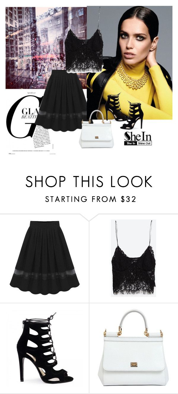 """""""Skirt"""" by woman-1979 ❤ liked on Polyvore featuring Zara and Dolce&Gabbana"""