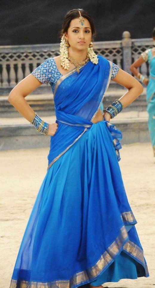 half saree | Gorgeous Indian Clothing | Half saree designs, Half