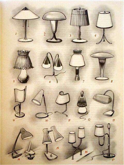 Table Lamp Drawing For Kids