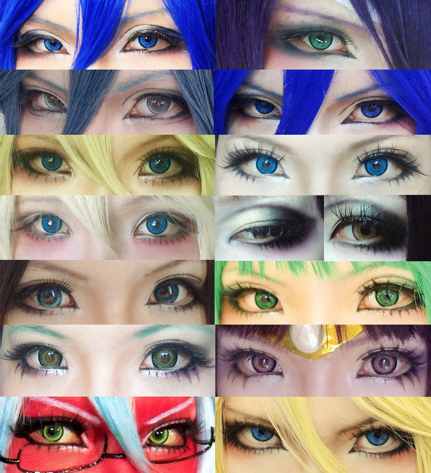 Cosplay eyes make up collection by mollyeberwein cosplay