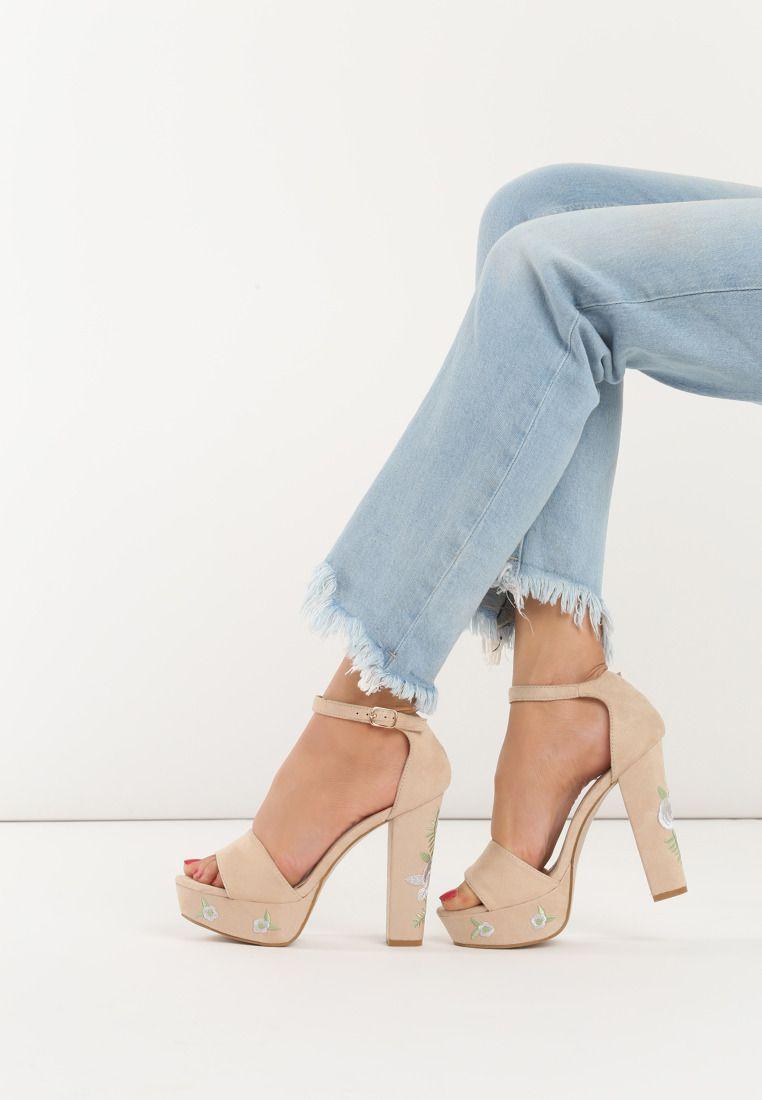 Bezowe Sandaly Weser Heels Pumps Sandals Heels