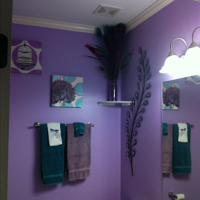 elly's peacock bathroom:-) | peacock bathroom ideas | pinterest