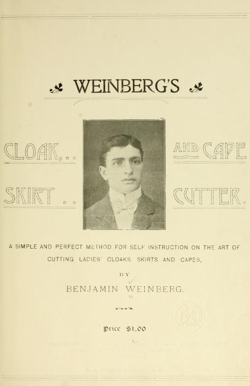 Weinberg's cloak, skirt and cape cutter. A simp...