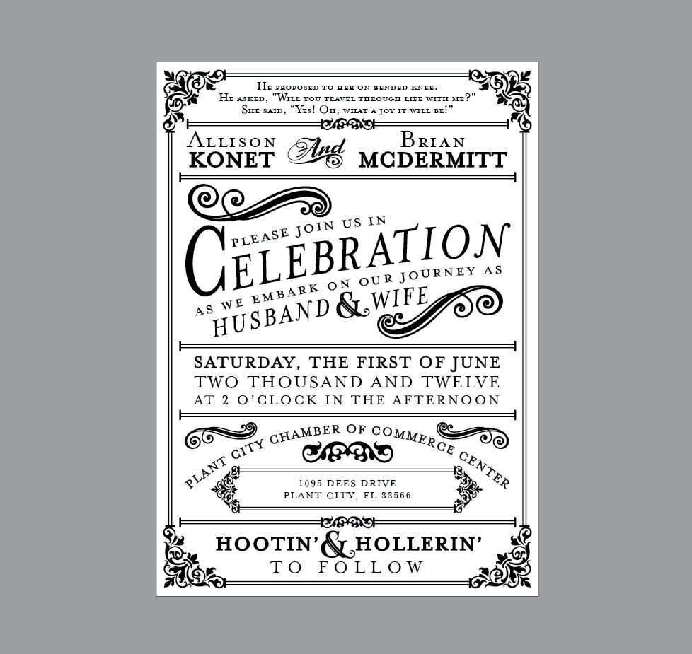 Rustic Wedding Invitations - Vintage Antique Victorian French ...
