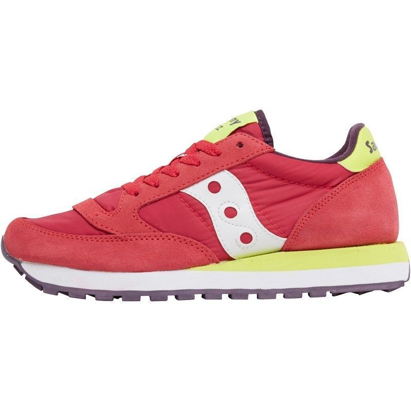 bd540eae5e09 Saucony Womens Jazz Original Trainers Red Yellow UK Sizes 4 - 7 ...