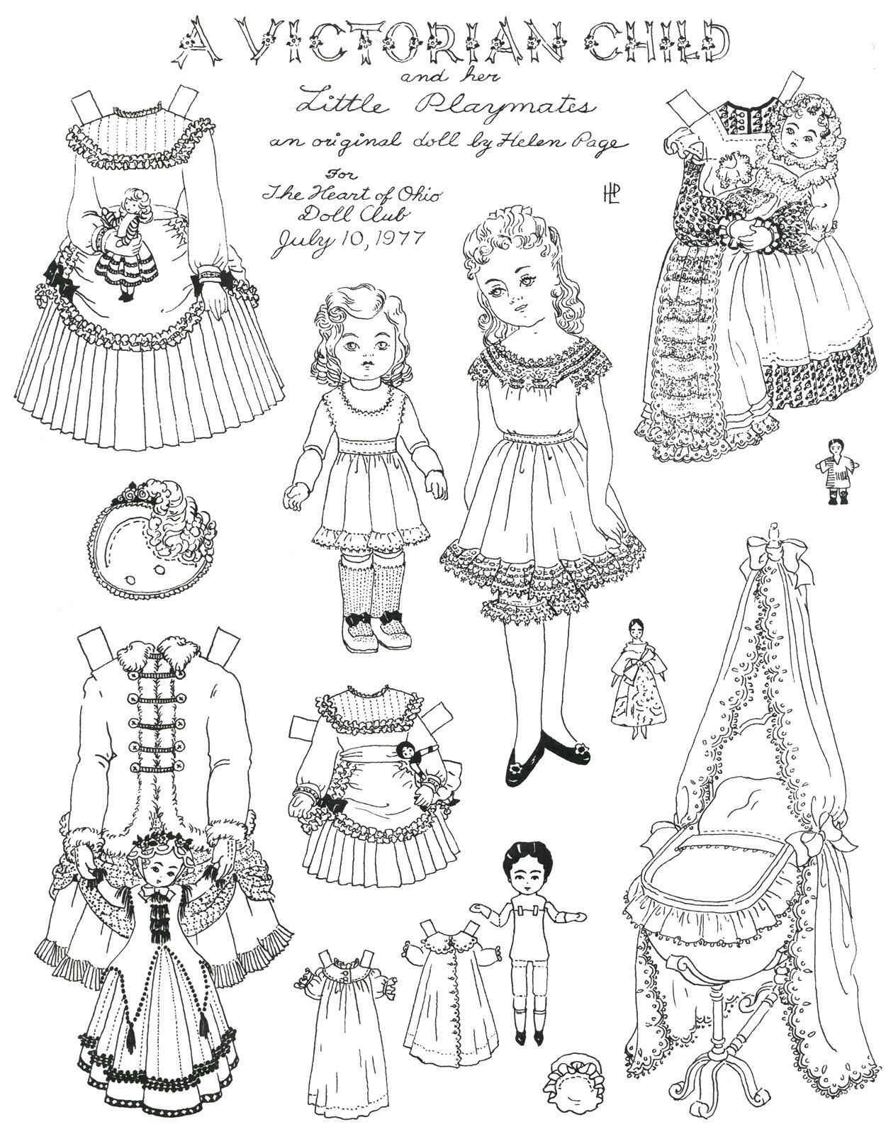 Paper Doll Dress Up Coloring Pages 1