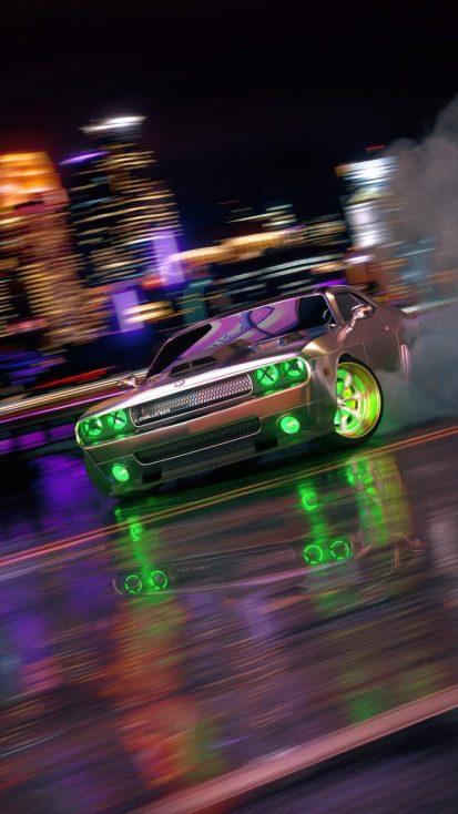 Dodge Challenger Neon iPhone Wallpaper in 2020 | Sports ...