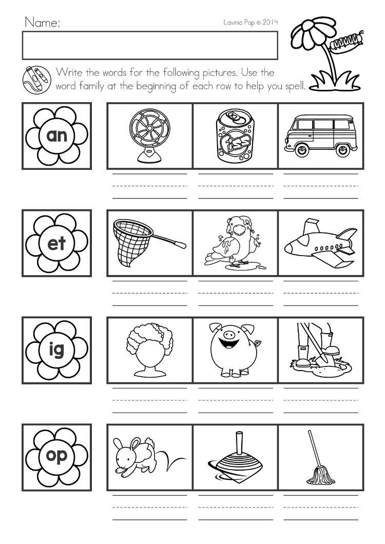 Spring Kindergarten Math And Literacy Worksheets Activities No Prep Word Families Spring Math Kindergarten Literacy Worksheets Kindergarten Math [ 1060 x 750 Pixel ]