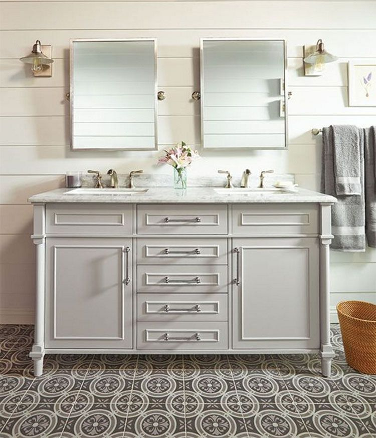 shop these stylish bathrooms | double vanity and vanities