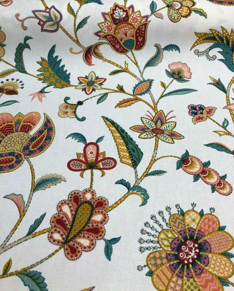 P Kaufmann Mabel Multi Color Floral Fabric By The Yard Etsy Floral Fabric Fabric Multi Color