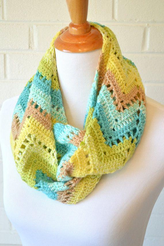 Crochet Chevron Infinity Scarf Crochet Crochet Shawl Crochet