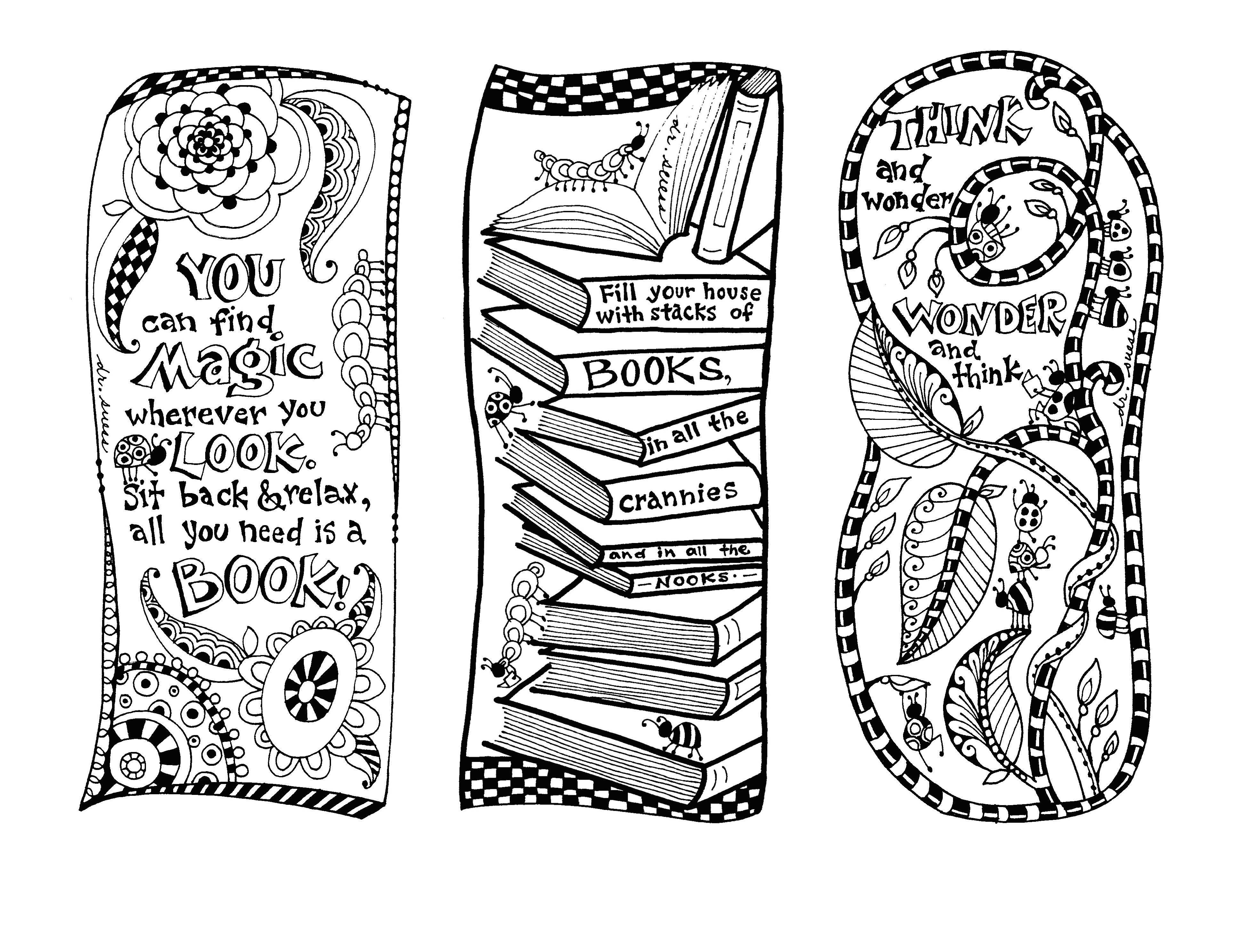 Dr Seuss Bookmarks Illustrated By Marie Browning Coloring Bookmarks Coloring Bookmarks Free Printable Coloring