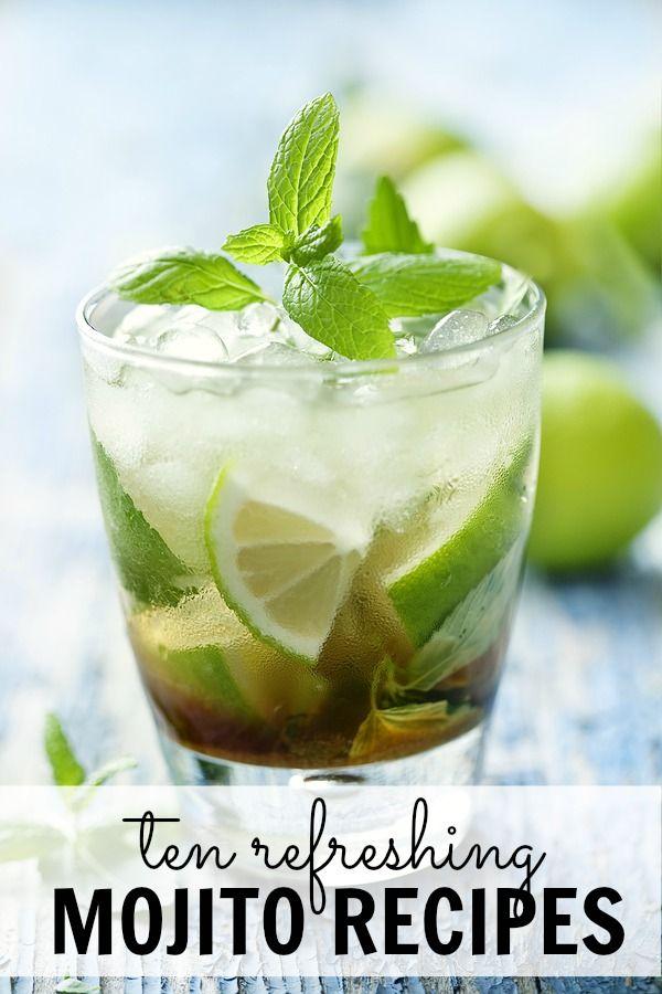 10 Refreshing Mojito Recipes Refreshing Drinks Mojito Recipe Yummy Drinks