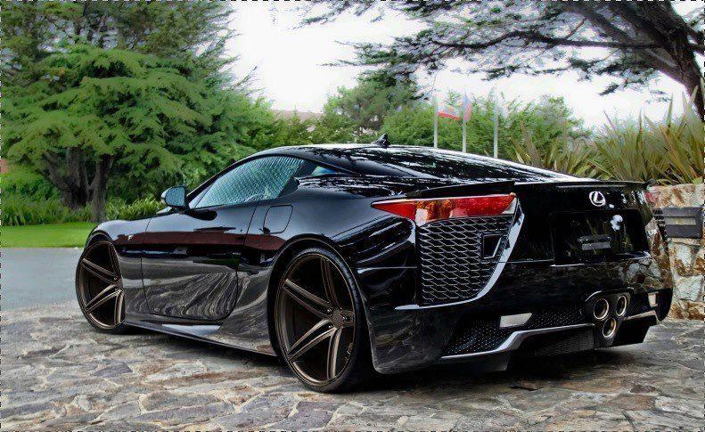 lexus lfa black rims. lexus lfa with vossen wheels dream car lfa black rims m