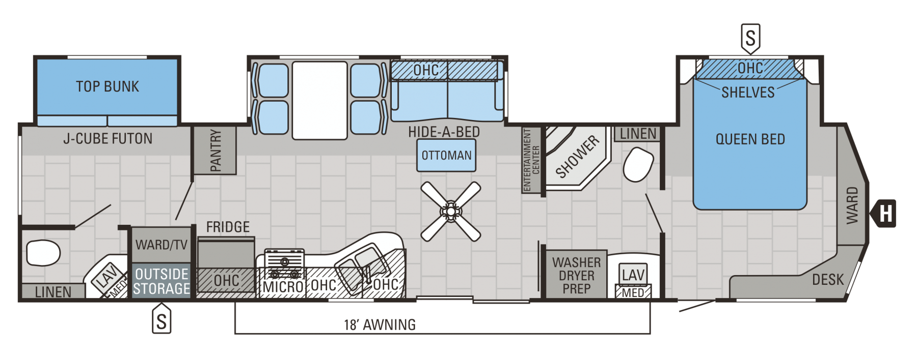 2015 Jay Flight Dst 40bhts Travel Trailer Floor Plans Floor Plans Bath Travel
