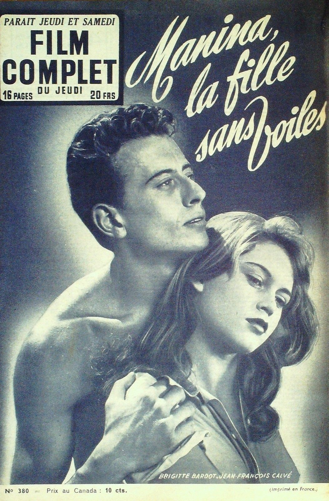 Manina la fille sans voiles (The Girl in the Bikini) | French film guide, 1952.