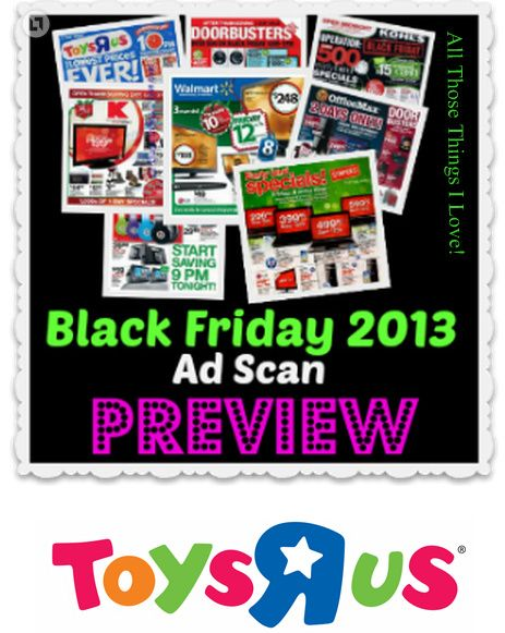 Toys R Us 2013 Black Friday Ad Preview!
