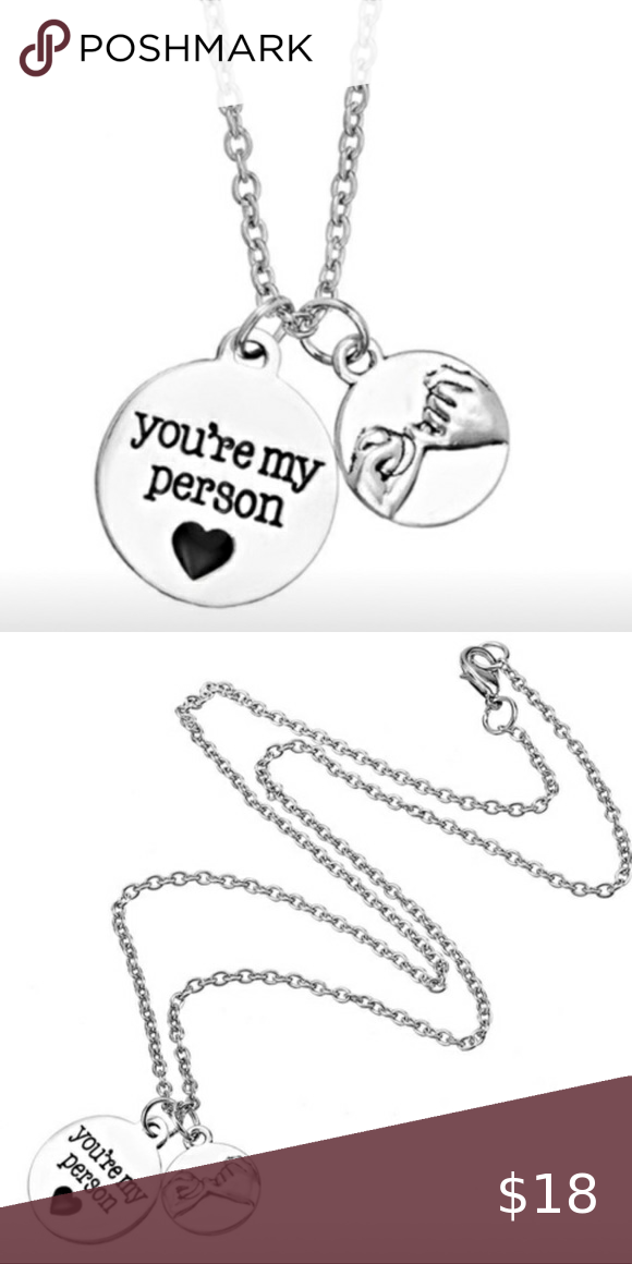 "Grey's Anatomy ""You're My Person"" Necklace Brand New Grey ..."