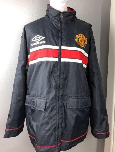 d97ae92a53 Vintage Manchester United Coat Football Jacket UMBRO Adult Size M SHARP  Medium | eBay