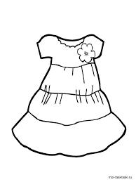 платье раскраска для детей - Поиск в Google | Раскраски ...