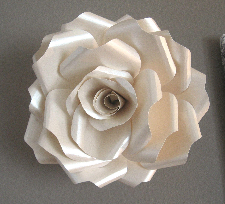 FAERIE IVORY OPAL paper wall rose wall art paper sculpture