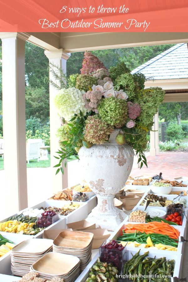 8 Ways To Throw The Best Summer Outdoor Party Outdoor