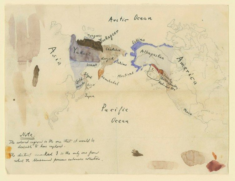 Jesup Expedition, AMNH, Original Boas map