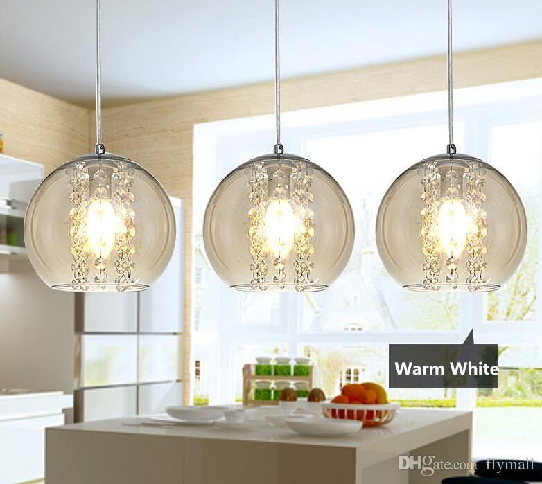 Modern Pendant Lamps Led Crystal Glass Ball Chandelier Light