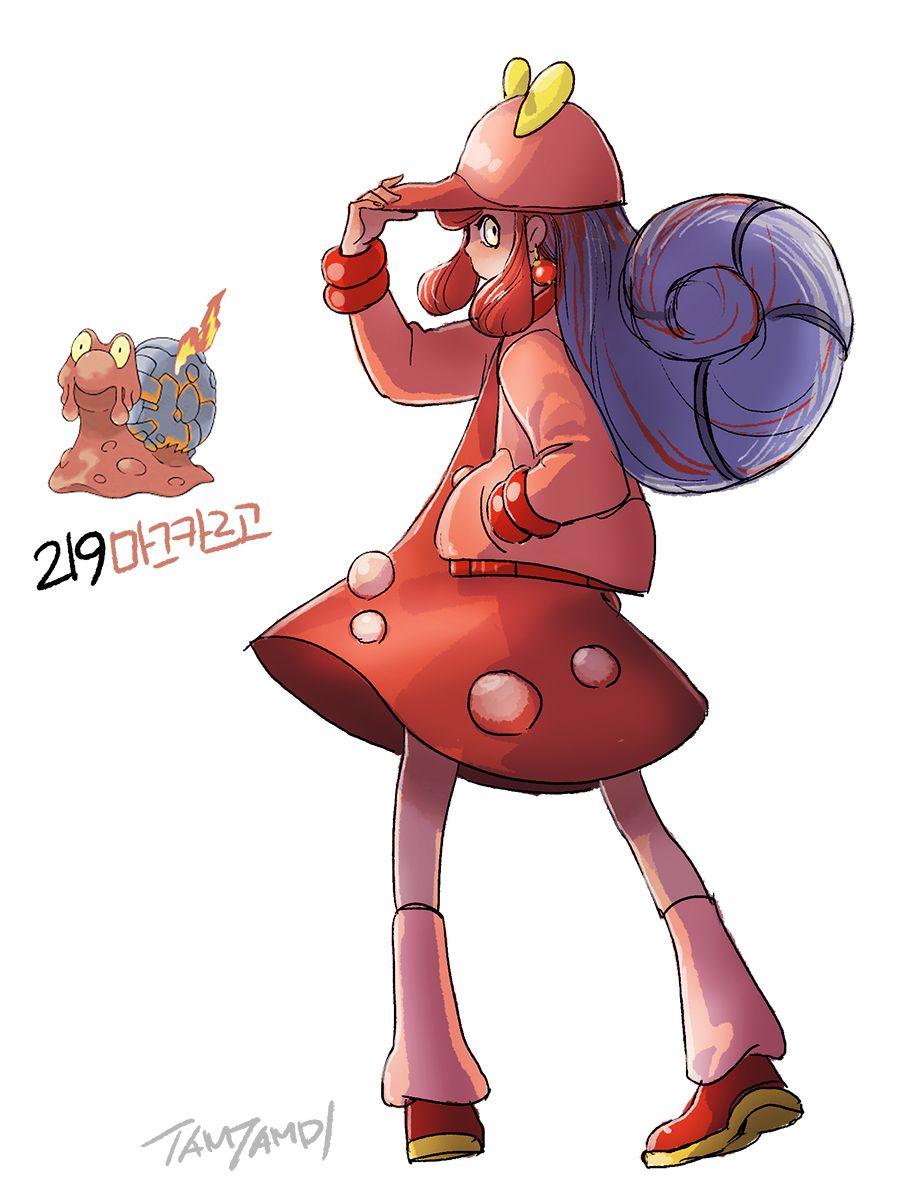 pokemon gijinka 218. 219. slugma magcargo | pokemon | pinterest
