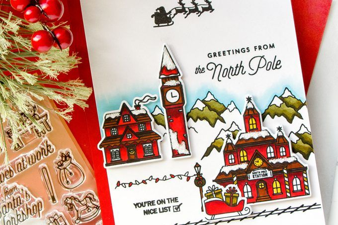 Hero arts greetings from the north pole christmas village card by hero arts greetings from the north pole christmas village card by yana smakula m4hsunfo