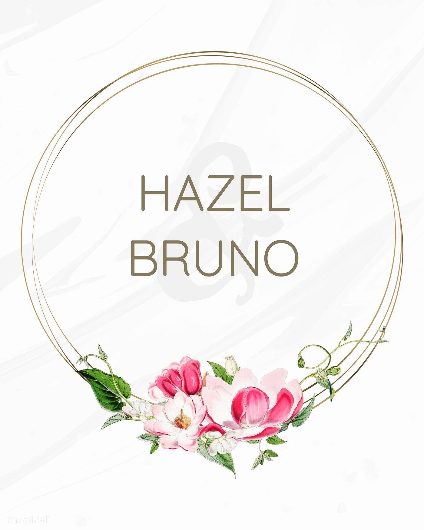 Download premium illustration of Flora wedding invitation