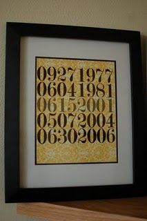 LOVE this idea. use special dates and only you know what the numbers mean.