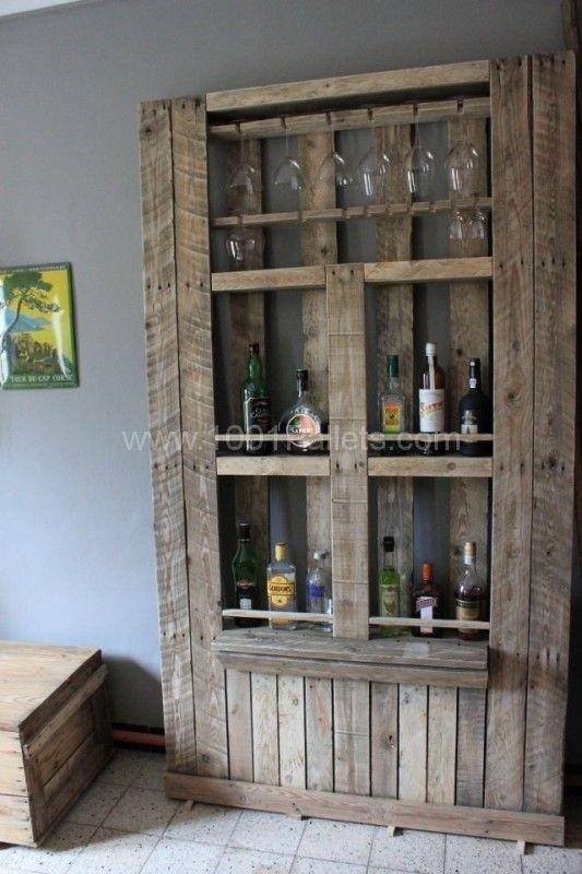 mueble hecho con palets reciclados.19bis.com   Licoreras   Pinterest ...