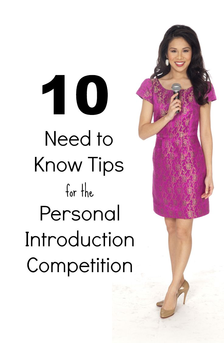 Helpful tips for National American Miss Personal Introduction ...