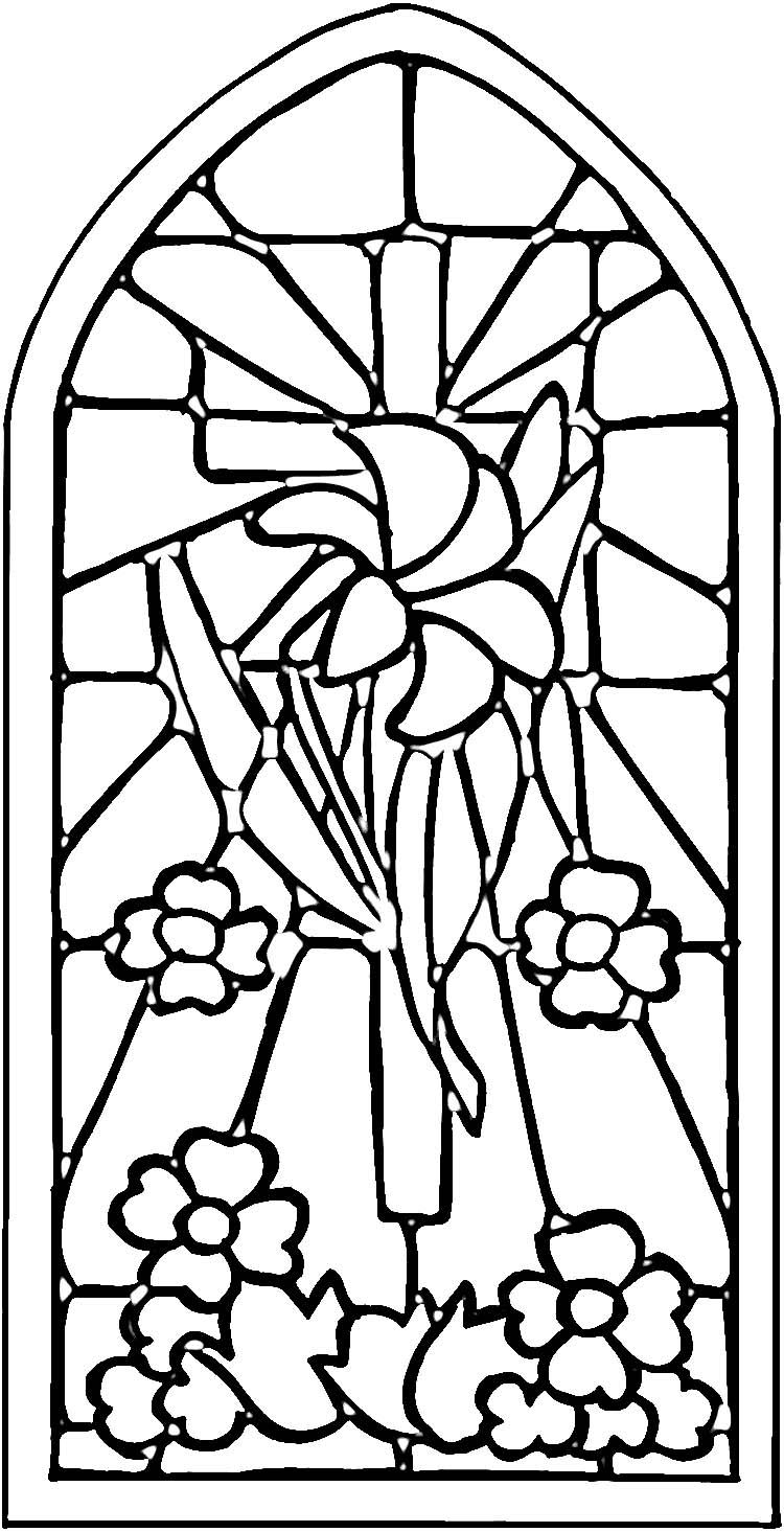 Christian Stained Glass Patterns Stained Glass Window Coloring