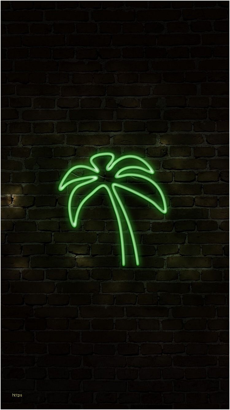 Green Leaf Plant Font Neon Illustration In 2020 Neon Wallpaper Iphone Wallpaper Neon