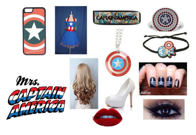 """Mrs.Captain America"" by sweet-lemonade-348 on Polyvore"