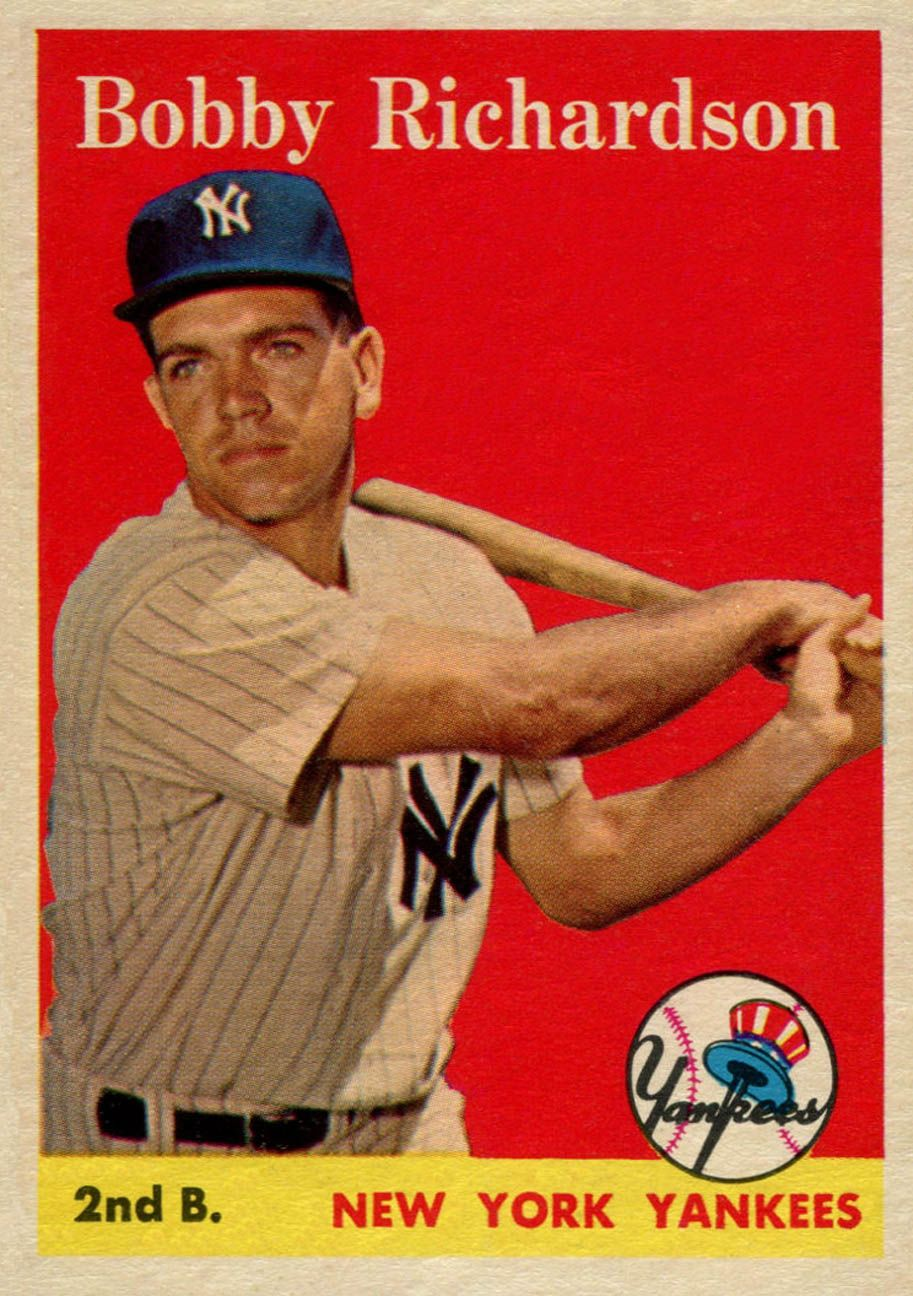 1958 topps bobby richardson baseball cards bobby