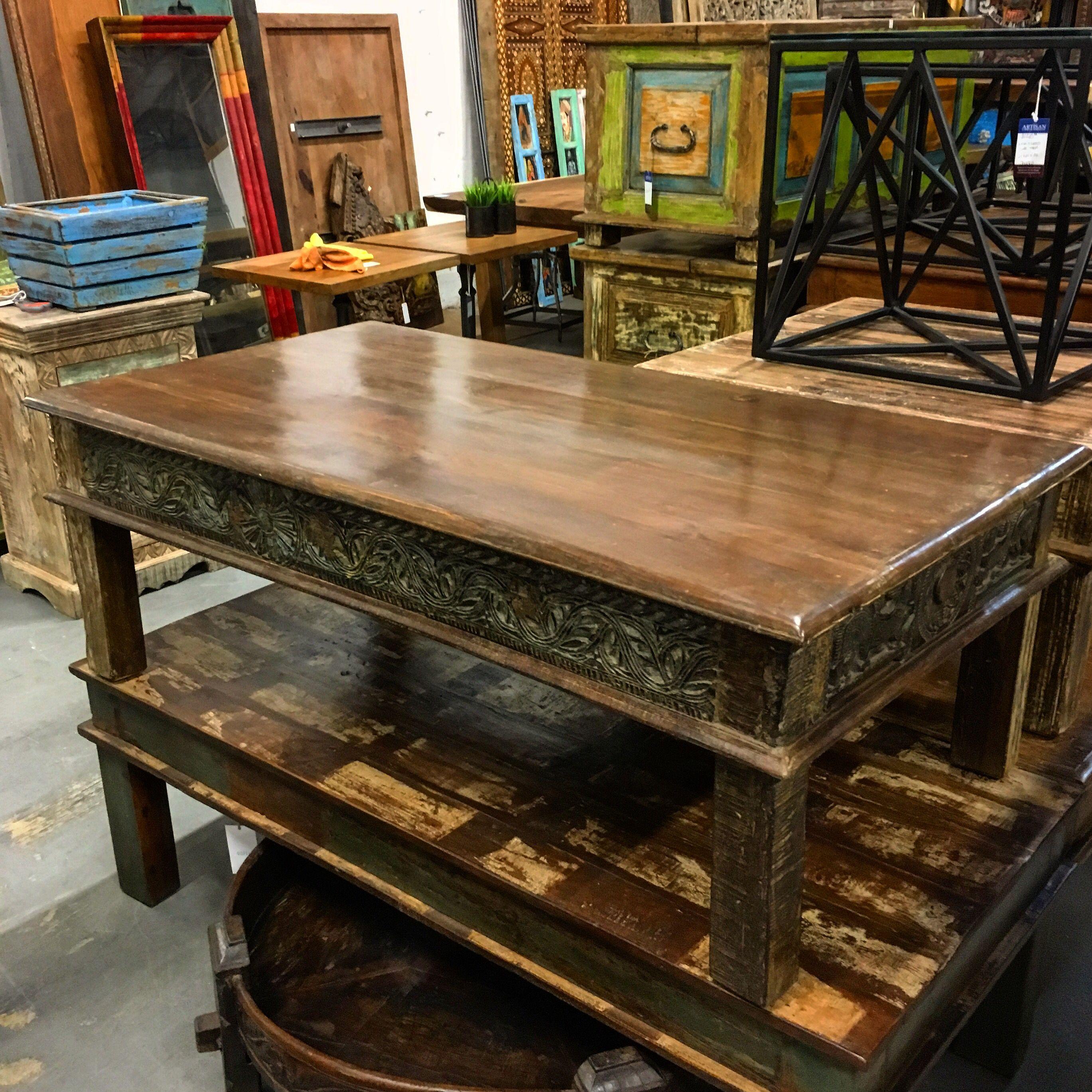 Reclaimed Wood Coffee Table In 2019 Reclaimed Wood Coffee