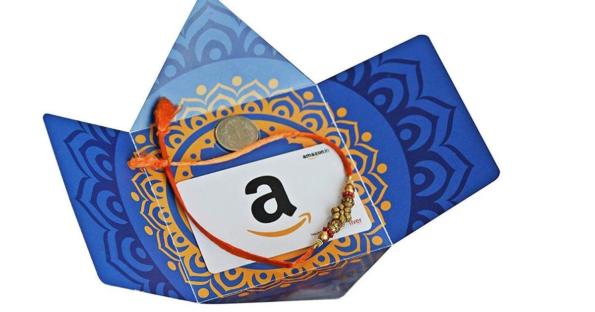 Amazon Rakhi Gift Card 2018 Rakhi Gift Card For Your Sisters And Brothers Rakhi Gifts Raksha Bandhan Gifts Gift Card