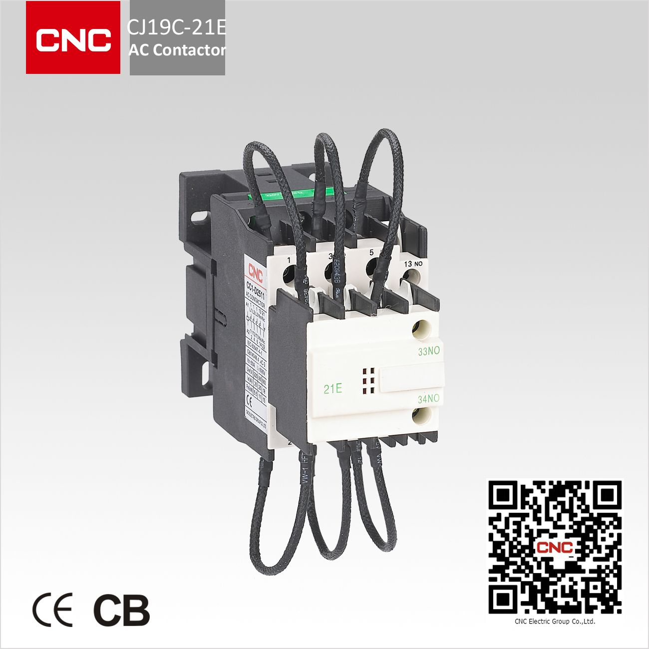 CJ19C Change Over Capacitor AC Contactor, rated voltage at