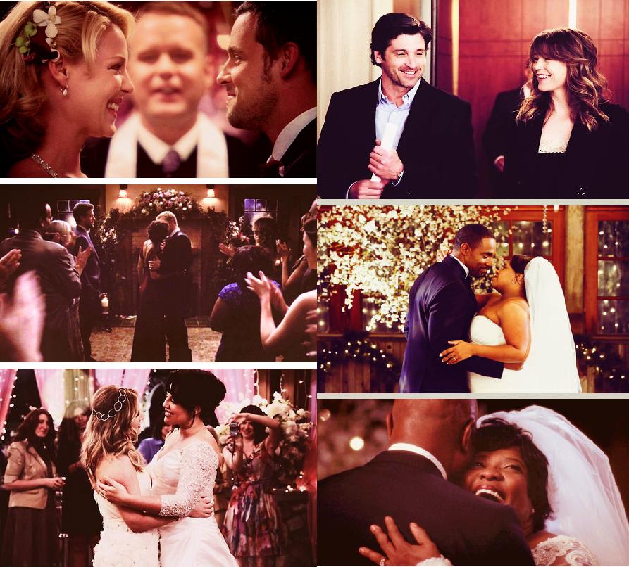 Grey\'s Anatomy weddings <3 Alex & Izzy; Meredith & Derek; Owen ...