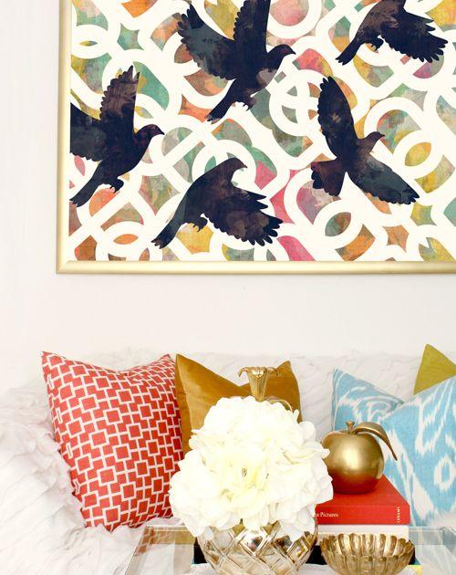 Black Doves #cozamia living room decor