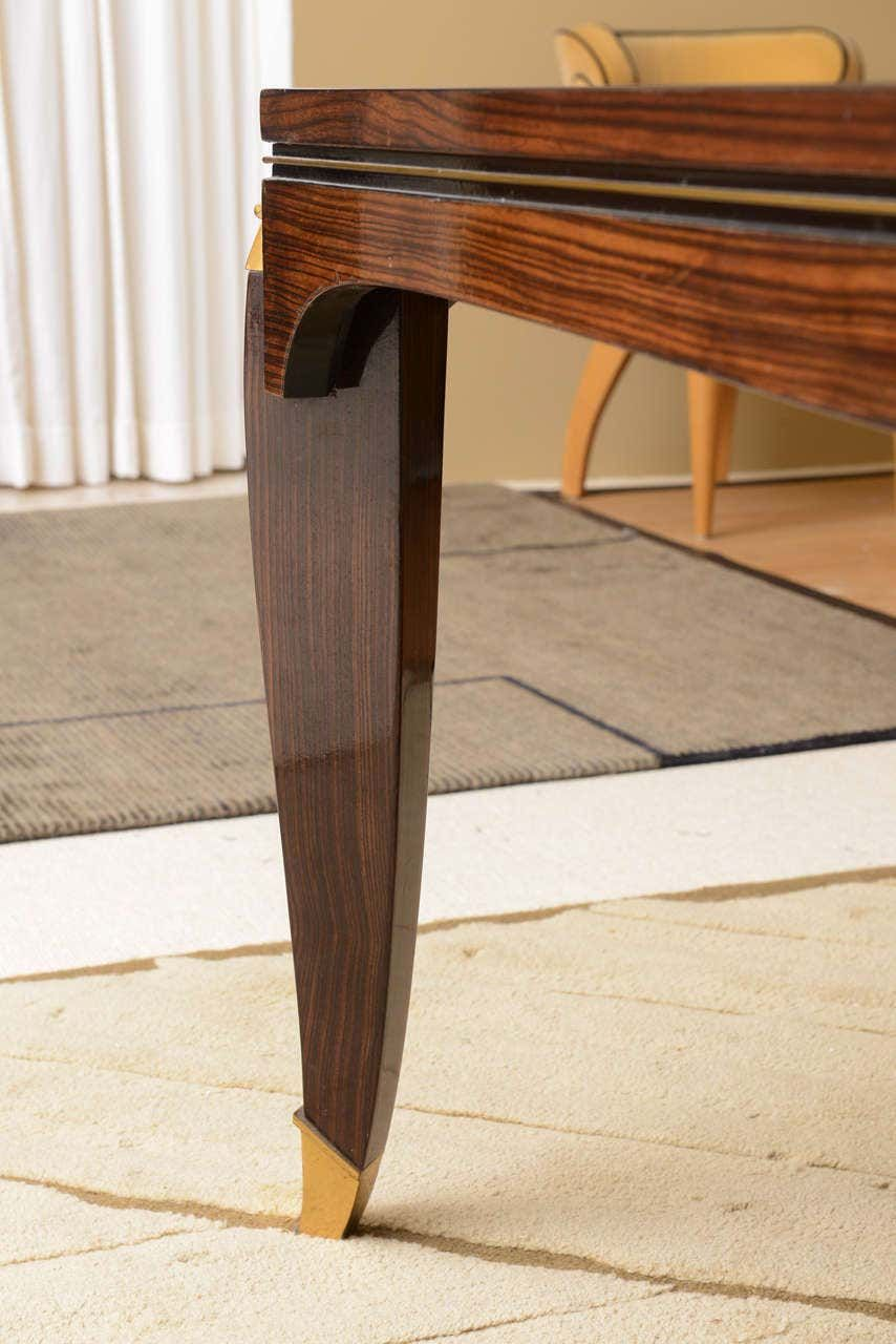 Fine Late Art Deco Ebony De Macassar Dining Table By Jules Leleu In 2020 Dining Table Table Table Parts